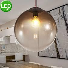 beleuchtung led glas kugel decken pendel leuchte filament