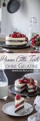 panna cotta torte mit beeren ohne gelatine