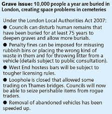 Change in law means graves can be dug up to bury new dead on top