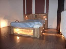 How To Make A Platform Bed Frame From Pallets by Diy Pallet Bed With Lights Diy Pallet Bed Pallets And Lights