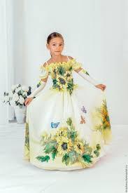 amazingly beautiful girls u0027 dress подсолнух желтый пышное