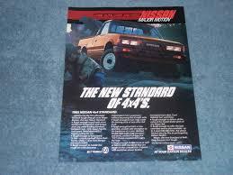 1985 NISSAN 4X4 Standard Pickup Truck Vintage Ad