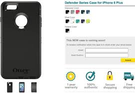 OtterBox iPhone 6 Plus case dimensions hunted