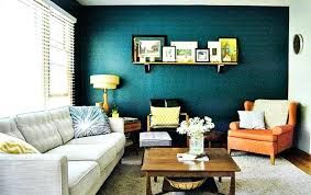 Navy Blue Walls Living Room Paint Ideas With Accent Wall Ottoman As Coffee Table