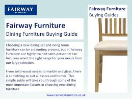 Fairway Furniture Dining Furniture Buying Guide Choosing a new dining set and living room furniture can