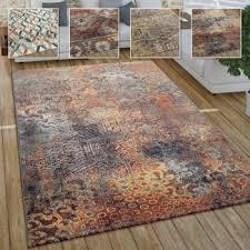 wohnzimmer teppich im vintage used look industrial style
