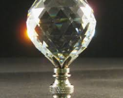 Crystal Glass Lamp Finials by Crystal Ball Finial Etsy