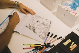 Marc Antoine Coulon Was Adding His Personal Touch With Strokes Of Faber Castell Pencils The Second Edition Vogue Coloring Book At Colette