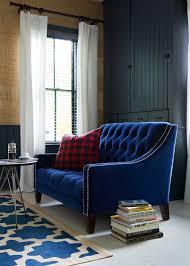 Tufted Velvet Sofa Toronto by Our Stunning Lincoln Tufted Midcentury Love Seat With Blue Velvet