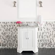 3 bold black and white bathroom makeovers