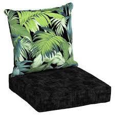 Deep Patio Cushions Home Depot by Black Tropicalia Outdoor Chair Cushions Outdoor Cushions The