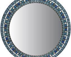 Blue Mosaic Bathroom Mirror by Custom Mosaic Mirrors By Josh Hilzendeger By Opusmosaics On Etsy