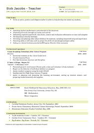 Resume Format For Montessori Teacher 15 Fresh Early Childhood Resumes Good Elementary Template