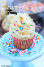 Homemade Funfetti Cupcakes An easy homemade version of funfetti cupcakes soft and fluffy vanilla cupcakes