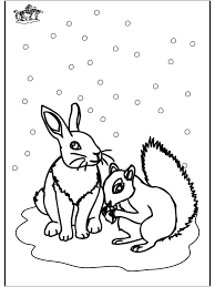 Winter Animals Coloring Pages AZ