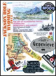 Travel Collage Journal Ideas Jackson Hole Myflowerjournal