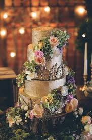 Rustic Wedding Cakes With Flowers