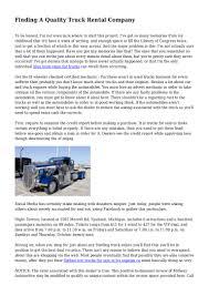 100 Truck Rental Michigan Finding A Quality Company