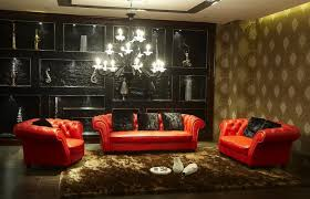 Black And Red Living Room Decorations by Living Room Furniture In Red Color Interior Design