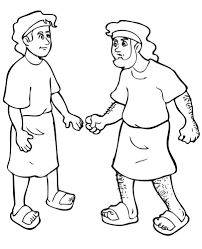 Esau And Jacob Coloring Pages Rachel Leah Skills