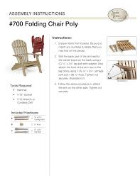 Polywood Folding Adirondack Chairs by Poly Adirondack Chairs From Dutchcrafters Amish Furniture