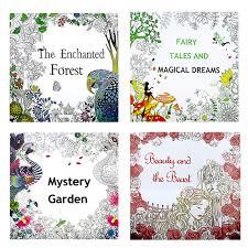 4 Pcs 2525cm Enchanted Forest Beauty And The Beast Secret Garden