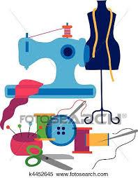 Clipart Of Set Decorative Elements The Fashion Designer