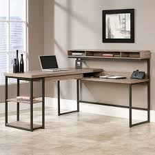 Sauder Transit Rustic Industrial L Shaped Desk