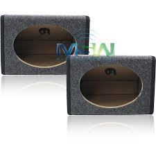 2) *NEW* ANGLED 6x9 MDF CAR AUDIO SPEAKER BOX PAIR REAR-DECK 6