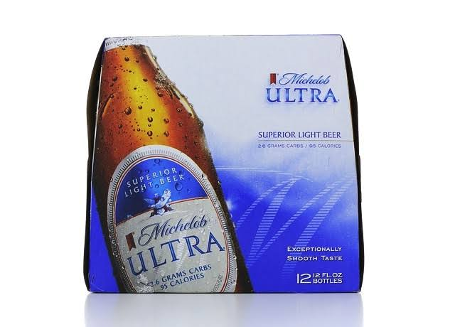 Michelob Ultra Beer, Superior Light - 12 pack, 12 fl oz bottles