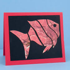 Cut Apart Fish Paper Made Of Marbled