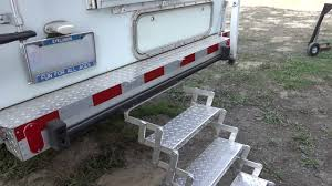 100 Truck Camper Steps DIY Improved Hose Storage Bumper And Entry Steps On A Truck Camper