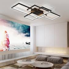 moderne schwarze led einbau deckenleuchte quadrat kombination form für büro konferenzraum wohnzimmer esszimmer schlafzimmer