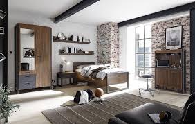 schlafzimmer jugendzimmer industrial style bett 90 x 200