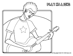Guitar Player Coloring Page At YesColoring