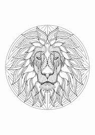 Coloriage Anti Stress Mandala Beau Mandala Tete Lion 4 Mandalas