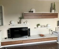 wohnzimmer komplett inkl sideboard vitrinen ohne deko tv