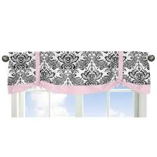 buy pink black valance from bed bath beyond