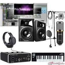 Home Recording Pro Tools Bundle Studio Package Midi 32 M Audio Software