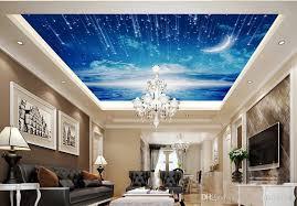 großhandel mode dekor dekoration für schlafzimmer weiße wolken himmel mond wohnzimmer decke decke wandmalereien wallpaper20151688 4 81 auf