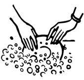 Black And White Version Of Washing The Dishes Clipart Graphic A9kjvl