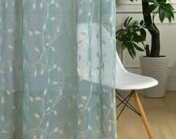 Sheer Cotton Voile Curtains by Custom Sheer Curtain Etsy