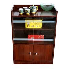 Storage Small Living Room Dining Sideboard Tea Cabinet Glass Sliding Door Multi Purpose