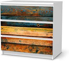 creatisto möbeltattoo passend für ikea malm kommode 3 schubladen i möbelaufkleber möbel folie sticker i wohn deko ideen für esszimmer