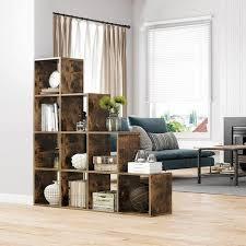 vasagle treppenregal bücherregal mit 10 würfeln leiterregal würfelregal freistehendes regal raumteiler für büro wohnzimmer schlafzimmer