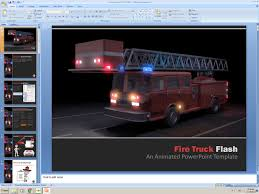 100 Fire Truck Template PowerPoint Animated Presentation Flashing Get