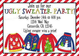 Christmas Ugly Sweater Party Invitation Print Your By Vmiddleton5 625