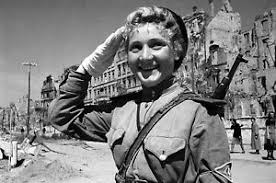 Image Is Loading WW2 Photo WWII Russian Female Soldier Salutes World
