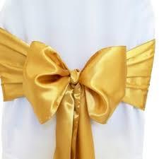 ruban pour noeud de chaise noeud de chaise mariage satin or un jour spécial