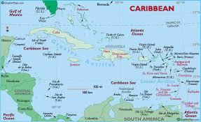 Detailed Map Of The Caribbean Island And West Indies